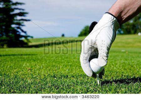 Mão de Tee de golfe