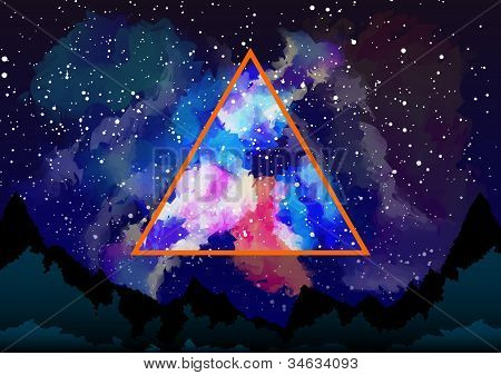 Mystic Galaxy View Through The Astral Triangle