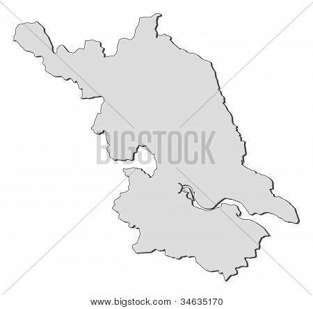 Map Of Jiangsu (china)