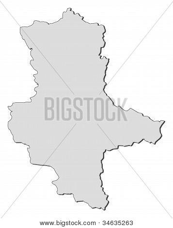 Map Of Saxony-anhalt (germany)