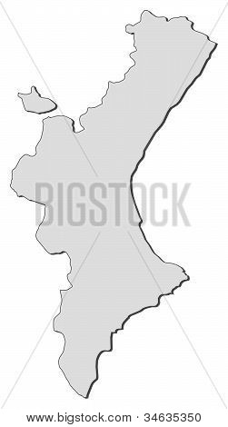 Map Of Valencian Community (spain)