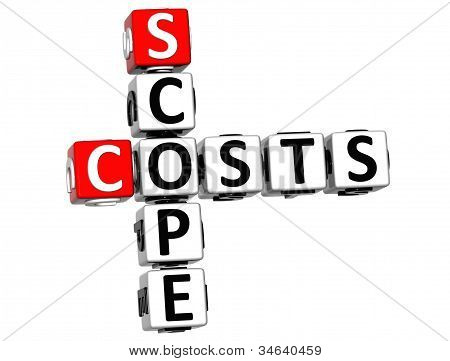 3D Scope Costs Crossword