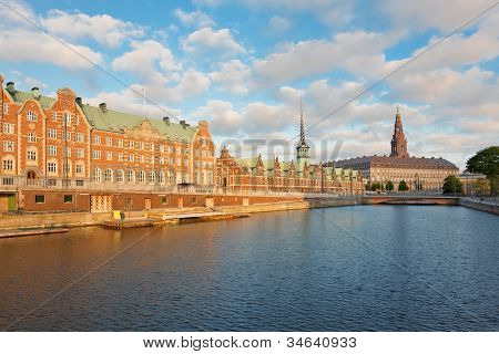 Morning View On Christiansborg Palace In Copenhagen