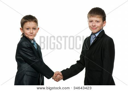 Handshake Of Two Schoolboys