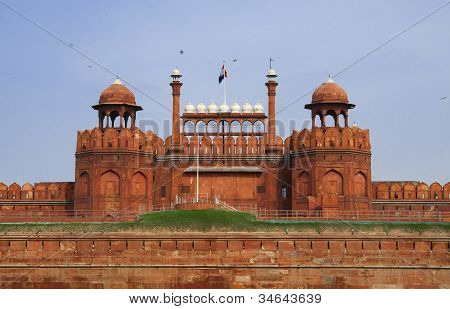 Red Fort In Old Delhi, India