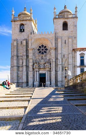 view of Porto Cathedral, Portugal