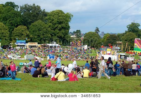 Spectators at Bristol International Balloon Fiesta