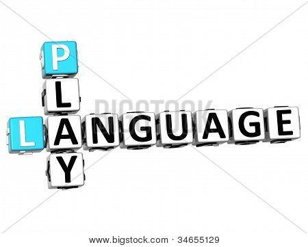 3D Play Language Crossword