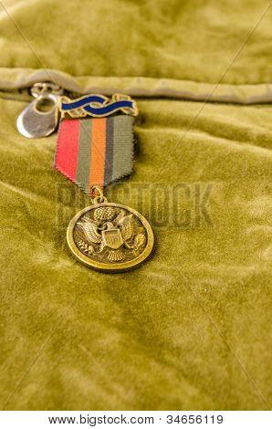 Hawk Badge On Green Velvet