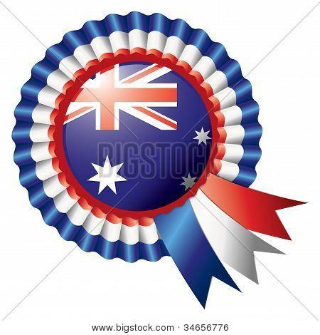Australia Rosette Flag