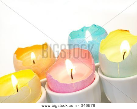 Easter  Eggshell Candles Tilted