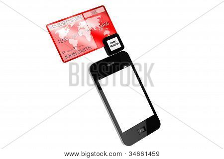 Mobile Phone With Credit Card