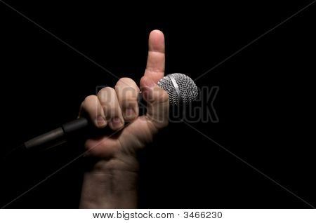 Microphone In Fist