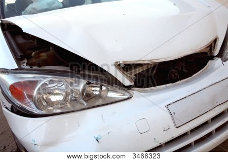 White Car After Accident