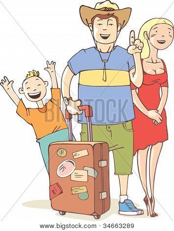 Tourist's family