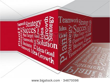 Business words on the wall