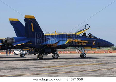 Us Navy Blue Angels No. 1 Jet