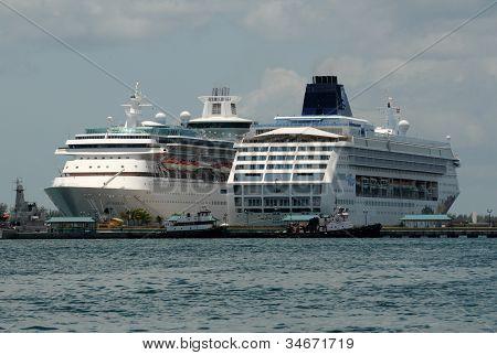 Cruise Ships In Nassau, The Bahamas