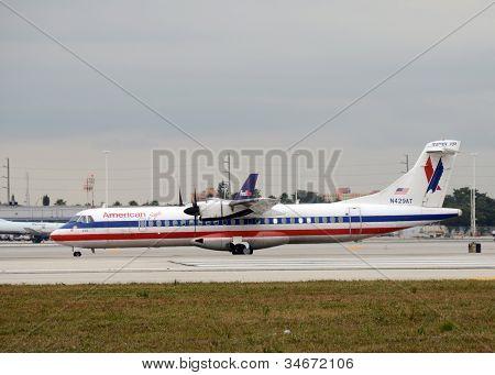 American Eagle Regional Flight From Miami