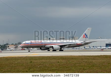 American Airline Passenger Jet