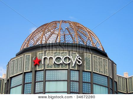 Macy's Storefront In Palm Beach, Florida