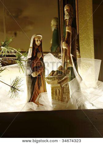 Holy Family Nativity Scene Dramatic