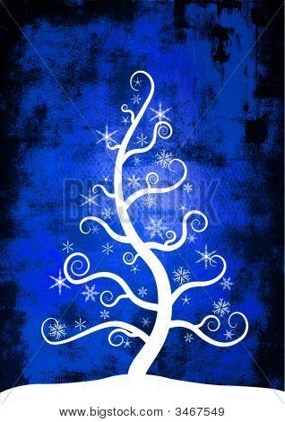 Christmas Snow Tree - Detailed Grunge