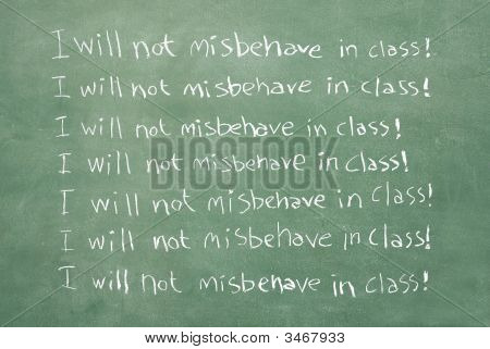 I Will Not Misbehave In Class!