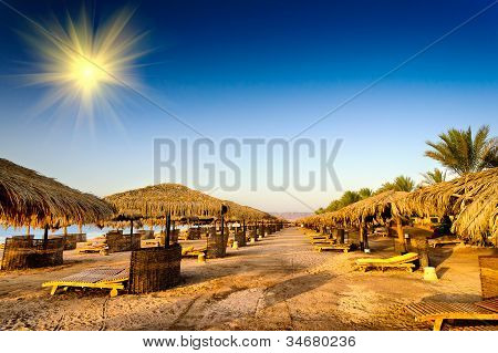 Fine  Beach In The Egypt.