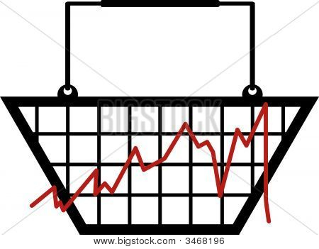 Shopping Basket With Graph.