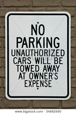 No Parking Sign