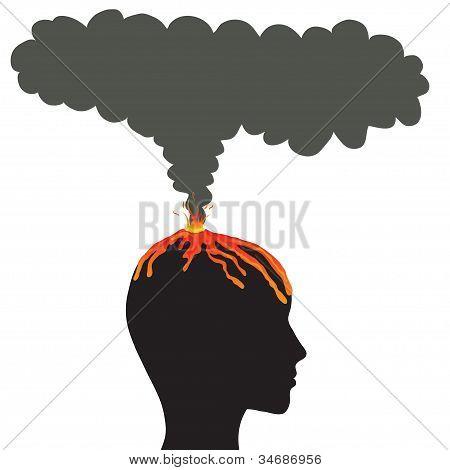 cerebro de la explosión, concepto de vector