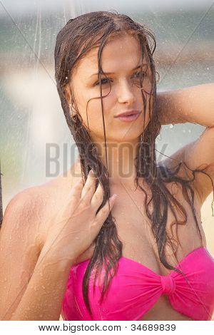 Sexy Girl Taking Shower