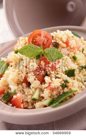 tagine with couscous and vegetables