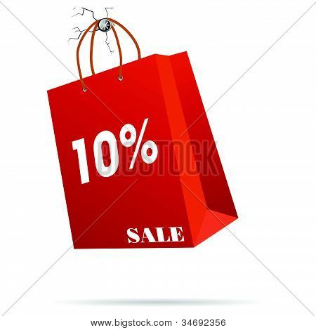 Rep Paper Bag Vector Illustration