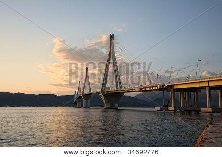 Bridge Crossing Corinth Gulf