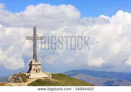 Caraiman Heroes Cross Monument in Bucegi Mountains, Romania