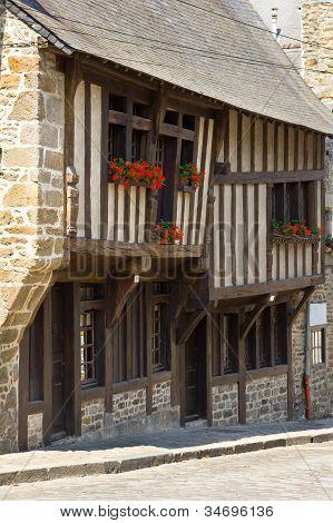 Dinan old town center