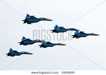 Five Airplanes Su-27