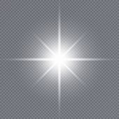 Glow Light Effect. White Glowing Light Burst Explosion With Transparent. Sun. Vector Illustration. poster