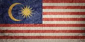 Grunge Malaysia Flag. Malaysia Flag With Grunge Texture. poster