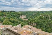 Landscape Of The Picturesque Medieval Village On The Hill, Sorano, Italy poster