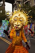 Sun Mask In The Parade