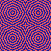 Vector Retro Colorful Geometric Seamless Pattern With Concentric Shapes, Lines poster