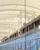 Beautiful shade and seating arrangement in main grandstand BIC Bahrain