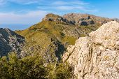 Majorca, Spain. Viewpoint In Mountainous Northwest Coast Of The Island poster