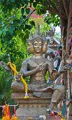 stock photo of brahma  - Brahma Shrine in Thai temple - JPG
