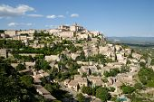 View Of The Medieval Town Gordes poster