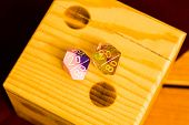 Wooden Die On Number 2 With Two 20 Sided Dice With 20 On Top To Indicate The Year 2020 poster