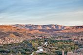 foto of ou  - Oued River along Boulmalne Dades valley and High Atlas Mountains at Morocco - JPG